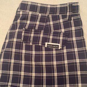 "Ecko UNLTD plaid shorts size 36"" waist vintage"